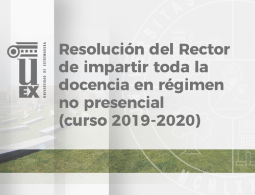 Resolución del Rector de la UEx, de 13 de abril de 2020