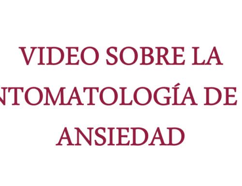 Vídeo sobre la sintomatología de la ansiedad